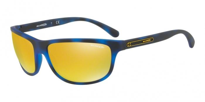 Gafas de sol Arnette AN4246 2464N0 MATTE BLUE HAVANA - MIRROR YELLOW/ORANGE