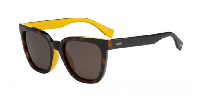 Gafas de sol Fendi FF 0121/F/S COLOR FLASH ASIAN FIT MFR (8H) HVN OCHRE /