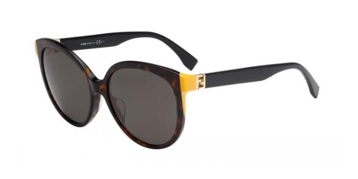 Gafas de sol Fendi FF 0144/F/S THE FENDISTA ASIAN FIT TRD (8H) DKHVN BLK /