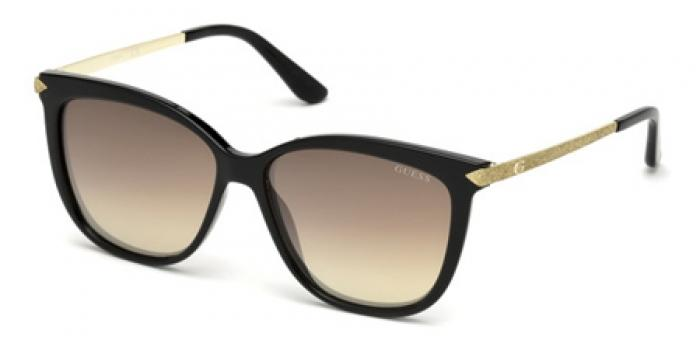 Gafas de sol Guess GU7533 01G negro brillo / marró
