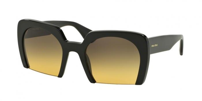 Gafas de sol MIU MIU MU 06QS 1AB1F2 BLACK - YELLOW GRADIENT GREY