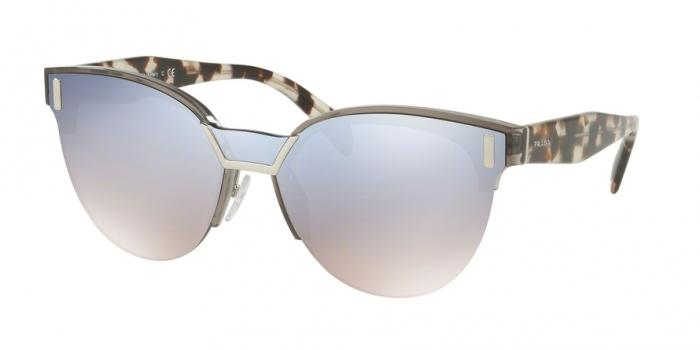 Gafas de sol Prada PR 04US VIP5R0 TRANSPARENT GREY - GRADIENT BLUE MIRROR SIVER