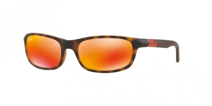 Gafas de sol Ray-Ban Junior RJ9056S 70266Q MATTE HAVANA - FLASH ORANGE