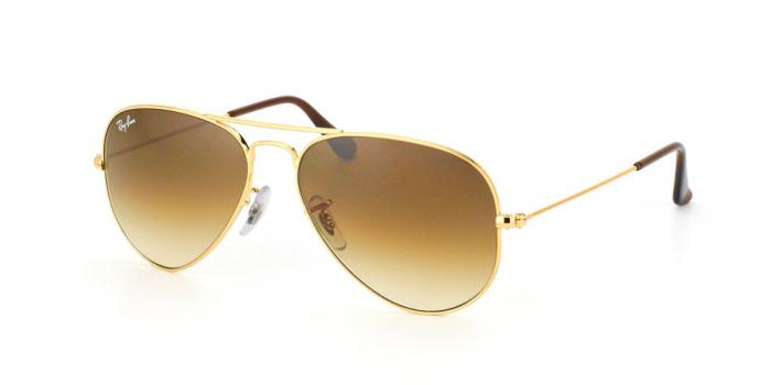 Gafas de sol Ray-Ban AVIATOR LARGE METAL RB3025 001/51 GOLD - CRYSTAL BROWN GRADIENT