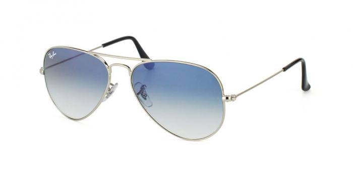 Gafas de sol Ray-Ban AVIATOR LARGE METAL RB3025 003/3F SILVER - CRYSTAL GRADIENT LIGHT BLUE