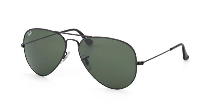 Gafas de sol Ray-Ban AVIATOR LARGE METAL RB3025 L2823 BLACK - GREY GREEN