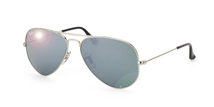 Gafas de sol Ray-Ban AVIATOR LARGE METAL RB3025 W3277 SILVER - CRYSTAL GREY MIRROR