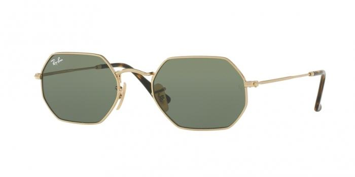 Gafas de sol Ray-Ban RB3556N OCTOGONAL FLAT LENSES 1 GOLD - GREEN