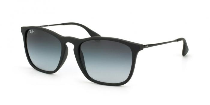 Gafas de sol Ray-Ban RB4187 CHRIS 622/8G RUBBER BLACK - LIGHT GREY GRADIENT DARK GREY