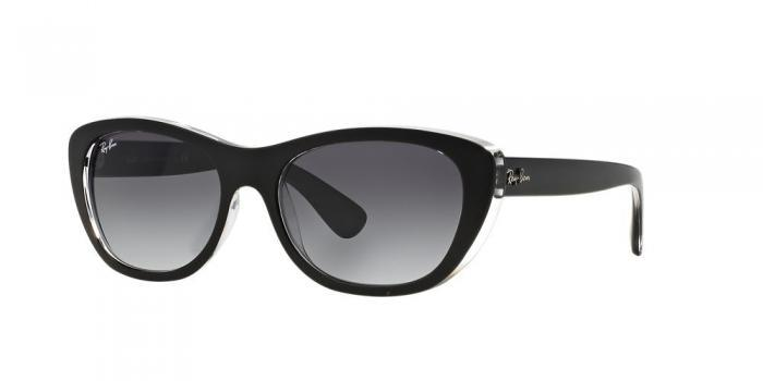 Gafas de sol Ray-Ban RB4227 60528G TOP MAT BLACK ON TRANSPARENT - GREY GRADIENT DARK GREY