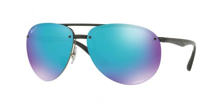 Gafas de sol Ray-Ban RB4293CH 601/A1 BLACK - GREEN MIR BLUE POLAR