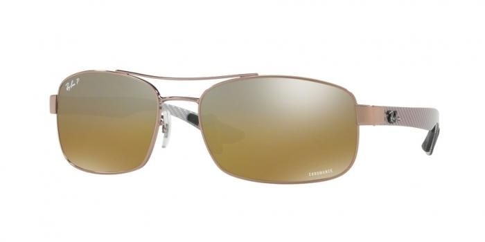 Gafas de sol Ray-Ban RB8318CH 121/A2 SHINY LIGHT BROWN - BROWN MIR GREY GRADIENT POLAR