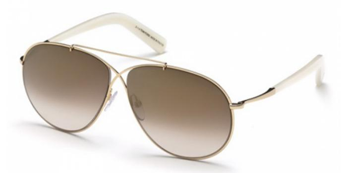 Gafas de sol Tom Ford FT0374 EVA 28G dorado brillo / marr