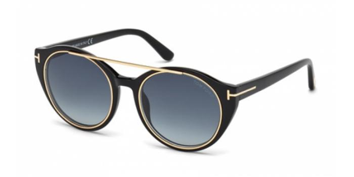 Gafas de sol Tom Ford FT0383 JOAN 01W negro brillo / azul