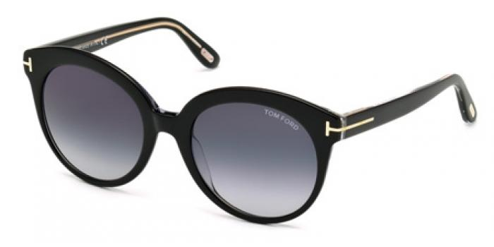 Gafas de sol Tom Ford FT0429 MONICA 03W negro / cristal / az