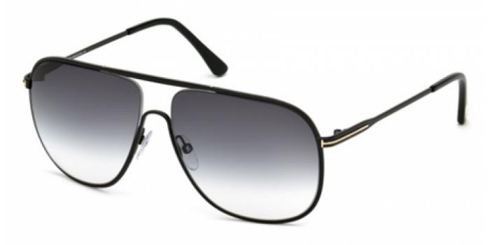 Gafas de sol Tom Ford FT0451 DOMINIC 02B negro mate / gris de