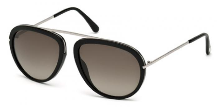 Gafas de sol Tom Ford FT0452 STACY 01K negro brillo / rovie