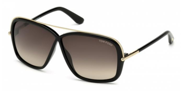 Gafas de sol Tom Ford FT0455 BRENDA 01K negro brillo / rovie