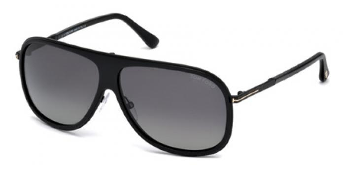 Gafas de sol Tom Ford FT0462 CHRIS 01D negro brillo / gris