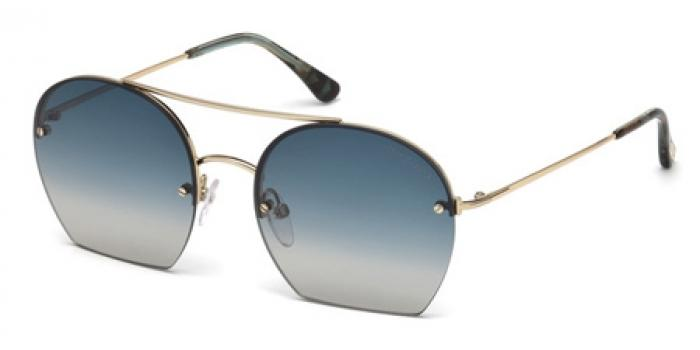 Gafas de sol Tom Ford FT0506 ANTONIA 28W dorado brillo / azul