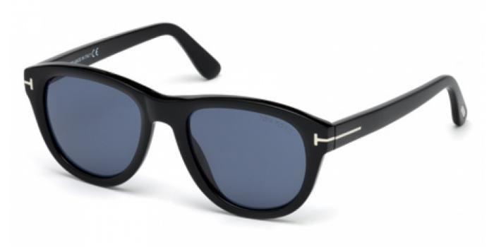 Gafas de sol Tom Ford FT0520 BENEDICT 01V negro brillo / azul