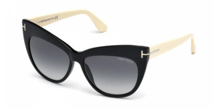 Gafas de sol Tom Ford FT0523 NIKA 01B negro brillo / gris