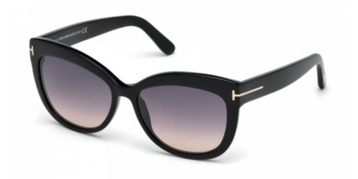 Gafas de sol Tom Ford FT0524 ALISTAIR 01B negro brillo / gris