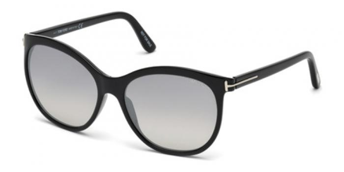 Gafas de sol Tom Ford FT0568 GERALDINE 01C negro brillo / gris