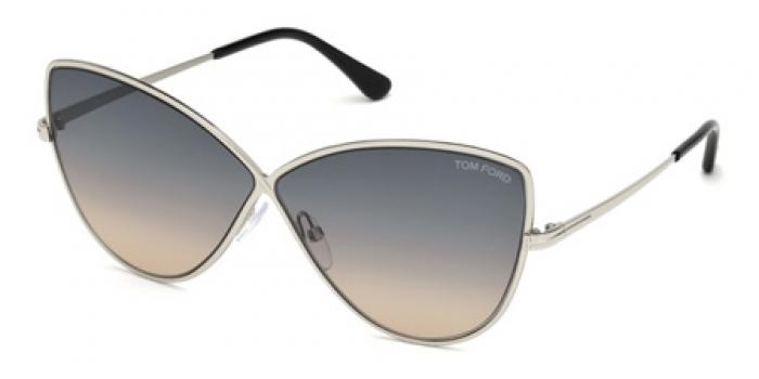 Gafas de sol Tom Ford FT0569 ELISE 16B plata brillo / gris