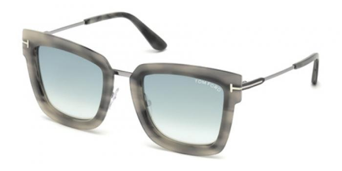 Gafas de sol Tom Ford FT0573 LARA 55X havana colorada / az