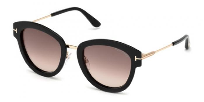 Gafas de sol Tom Ford FT0574 MIA 01T negro brillo / burde