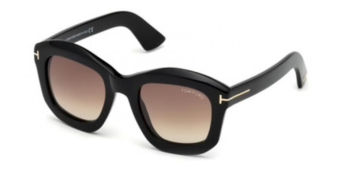 Gafas de sol Tom Ford FT0582 JULIA 01F negro brillo / marró