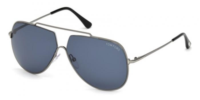 Gafas de sol Tom Ford FT0586 CHASE 12V rutenio brillo oscur