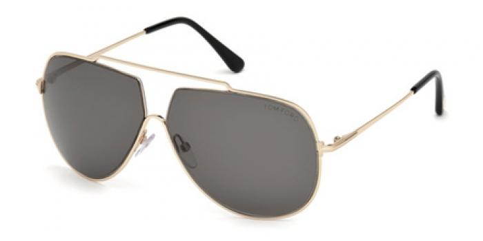 Gafas de sol Tom Ford FT0586 CHASE 28A dorado brillo / gris