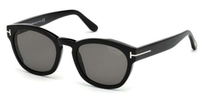 Gafas de sol Tom Ford FT0590 BRYAN 01D negro brillo / gris