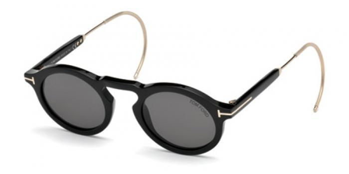 Gafas de sol Tom Ford FT0632 GRANT 01A negro brillo / gris