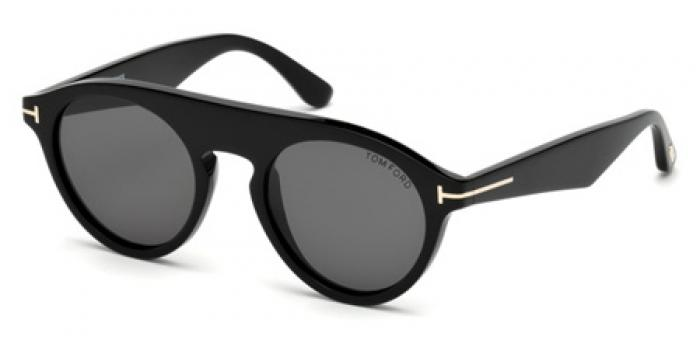 Gafas de sol Tom Ford FT0633 CHRISTOPHER 01A negro brillo / gris