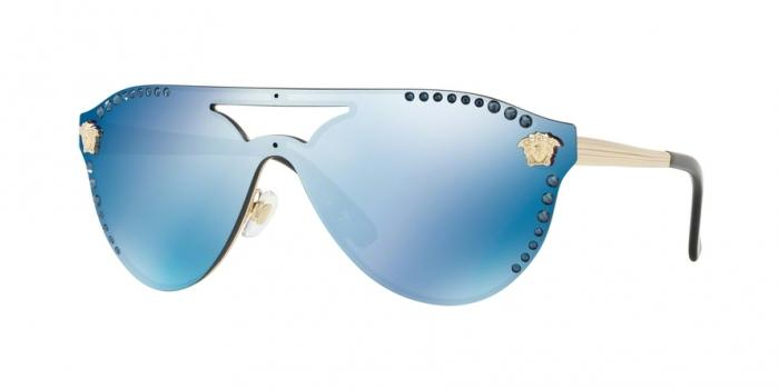 Gafas de sol Versace VE2161B 125255 PALE GOLD - DARK BLUE MIRROR BLUE
