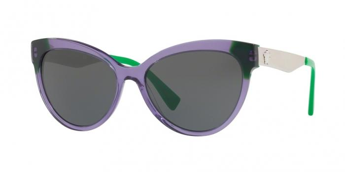 Gafas de sol Versace VE4338 524587 TRANSPARENT VIOLET/GREEN - GREY
