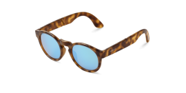 Gafas de sol Mr. Boho Foldable Jordaan KH-14 KH-14 High Contrast Tortoise Foldable Jordaan with Sky Blue Lenses