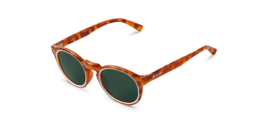 Gafas de sol Mr. Boho Jordaan AG6-11-P AG6-11-P Circular Cream / Leo Tortoise Jordaan with Classical Lenses Polarized