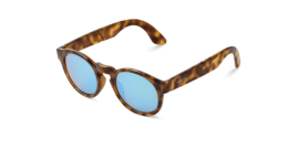 Gafas de sol Mr. Boho Foldable Jordaan KH-14-P KH-14-P H / C Tortoise Foldable Jordaan with Sky Blue Lenses Polarized