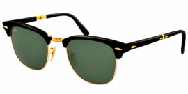 Gafas de Sol Ray-Ban RAY-BAN CLUBMASTER FOLDING RB2176 901 BLACK - CRYSTAL GREEN