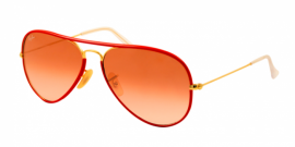 Gafas de Sol Ray-Ban AVIATOR FULL COLOR RB3025JM 001/X3 ARISTA - PINK GRADIENT BROWN PHOTO