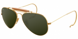 Gafas de Sol Ray-Ban OUTDOORSMAN RB3030 L0216 ARISTA - CRYSTAL GREEN