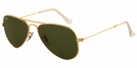 Gafas de sol Ray-Ban AVIATOR SMALL METAL RB3044 L0207 ARISTA - CRYSTAL GREEN