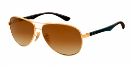Gafas de Sol Ray-Ban CARBON FIBRE RB8313 001/51 ARISTA - BROWN GRADIENT