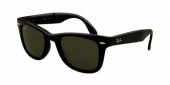 Gafas de Sol Ray-Ban RB4105 FOLDING WAYFARER 601/58 BLACK - CRYSTAL GREEN POLARIZED