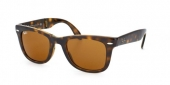 Gafas de Sol Ray-Ban RB4105 FOLDING WAYFARER 710 LIGHT HAVANA - CRYSTAL BROWN